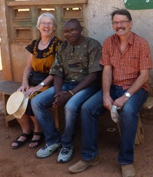 Dorothe with Baba and Dorothe's husband Christian